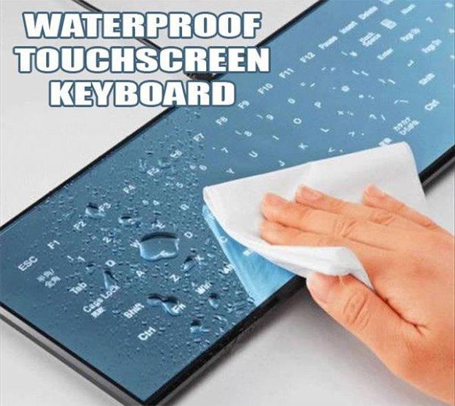 Un clavier étanche à l'eau