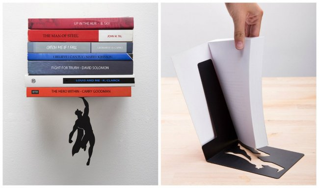 Le super héros en métal qui maintient vos livres à leur place